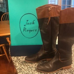 Jack Rogers Mercer Boots Size 9M Coffee Color